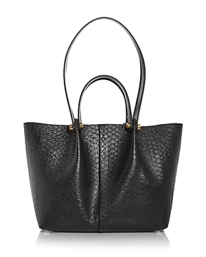 Allsaints Leathers ALLINGTON SMALL CROC EMBOSSED LEATHER TOTE