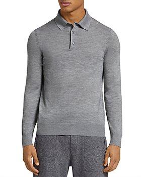 Zegna - Cashseta Essential Long Sleeve Regular Fit Polo Shirt
