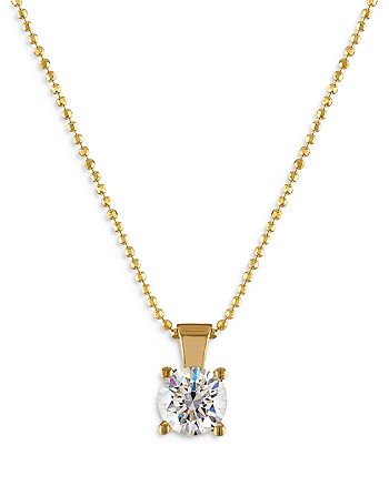 Bloomingdale's - Diamond Solitaire Pendant Necklace in 18K Yellow Gold, 1.0 ct. t.w. - 100% Exclusive