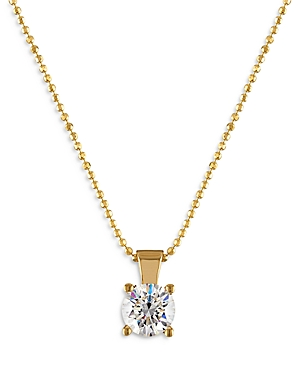 Bloomingdale's Diamond Solitaire Pendant Necklace in 18K Yellow Gold, 0.50 ct. t.w. - 100% Exclusive