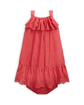 Ralph Lauren - Girls' Ruffle Eyelet Dress & Bloomers Set - Baby