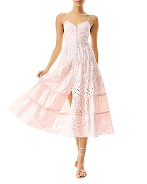 Shanti Eyelet Tiered Midi Dress