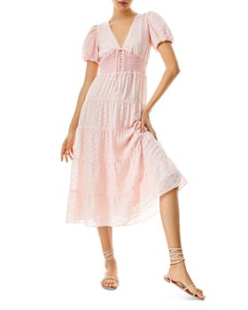 Alice and Olivia - Tia Puff Sleeve Midi Dress