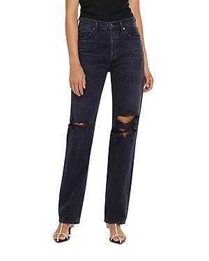 Agolde Lana Mid Rise Straight Leg Jeans
