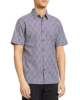 Theory - Irving Wave Print Button Down Shirt