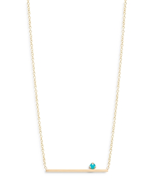 Zoë Chicco 14k Yellow Gold Turquoise Bar Station Necklace, 16