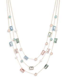 "Ralph Lauren - Multi Strand Stone Necklace, 16"""
