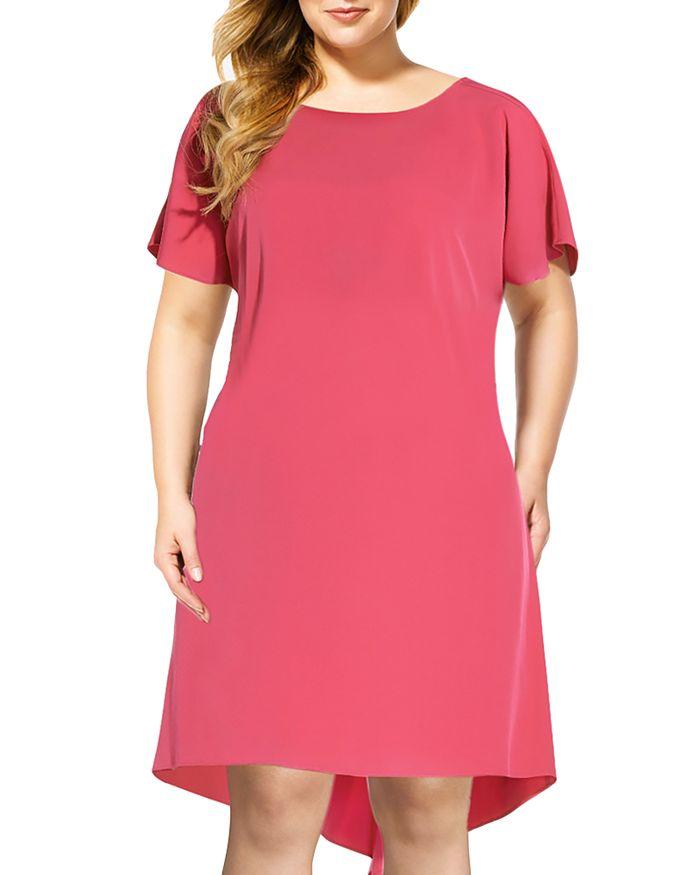 Adrianna Papell Plus - Cascade High/Low Shift Dress