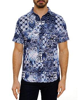 Robert Graham - Ballad Short Sleeve Shirt, Bloomingdale's Slim Fit