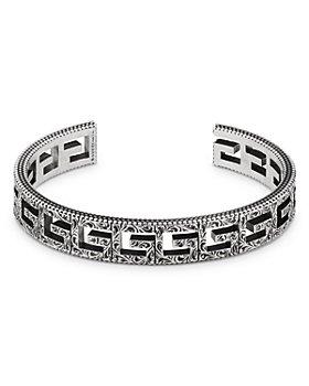 Gucci - Sterling Silver G Cube Cuff Bracelet