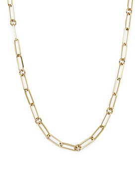 """Roberto Coin - 18K Yellow Gold Paperclip Link Chain Necklace, 22"""""""