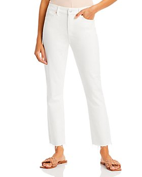 PAIGE - Cindy Straight Ankle Jeans in Tonal Ecru