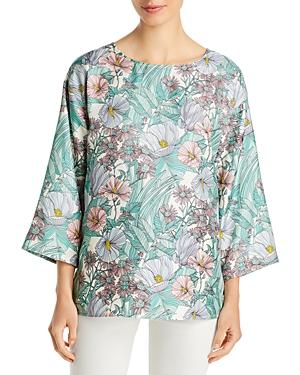 Tory Burch Robinson Floral Print Silk Top
