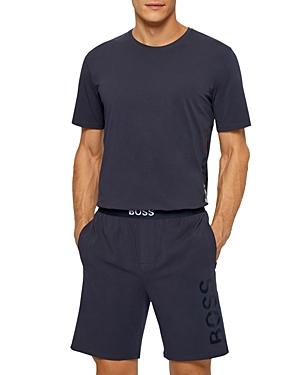 Identity Cotton Blend Tonal Logo Print Pajama Shorts