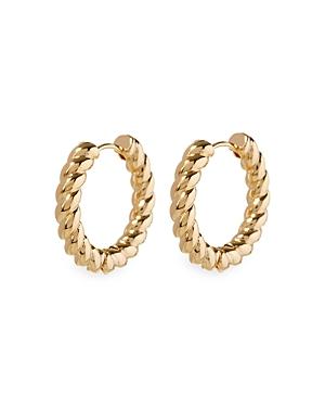 Rope Hinged Hoop Earrings