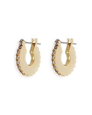 Mini Luna Pave Hoop Earrings
