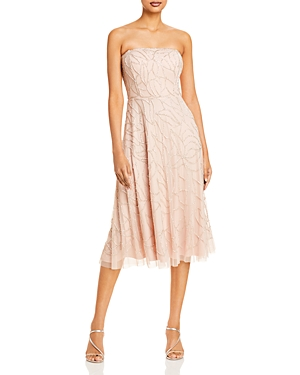 Beaded Strapless Cocktail Dress