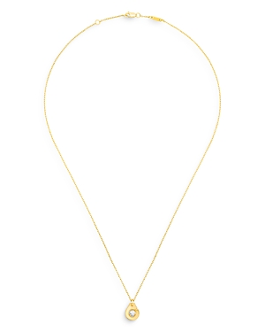 18K Yellow Gold Menottes Pendant Necklace with Diamonds
