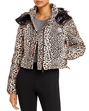 Moncler Avoine Faux Fur Cropped Puffer Jacket