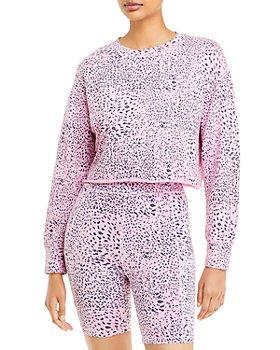 Monrow - Mini Printed Cutoff Sweatshirt