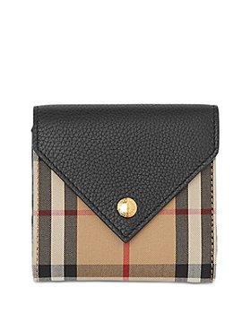 Burberry - Vintage Check & Leather Trifold Wallet
