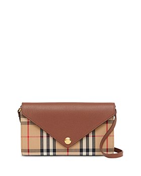 Burberry - Vintage Check & Leather Chain Wallet