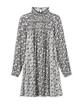 Peek Kids - Girls' Long Sleeve Mini Dress - Little Kid, Big Kid