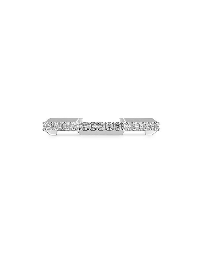 Gucci - 18K White Gold Link To Love Diamond Ring