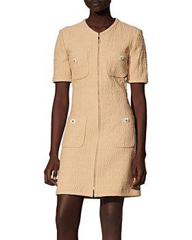 Sandro - Nadege Tweed Dress With Zipper