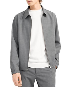 Theory - Brody Stretch Wool Bomber Jacket