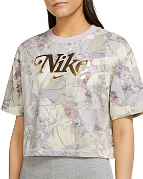 Nike Plus - Femme Faded Floral Cropped Top