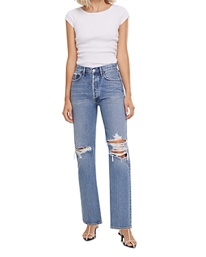 Agolde Lana High-Rise Vintage Straight-Leg Jeans in Backdrop