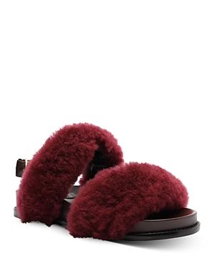 Alexandre Birman Women's Fur Slingback Slide Sandals