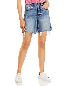 Pistola - Kelly 90s Skater Jean Shorts in Medium Blue