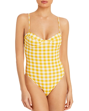 Bea Gingham Underwire One Piece Swimsuit