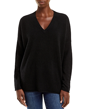 Oversized V Neck Cashmere Sweater