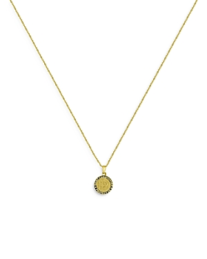 Bloomingdale's St. Christopher Round Medallion Pendant Necklace in 14K Yellow Gold, 16-18 - 100% Exc