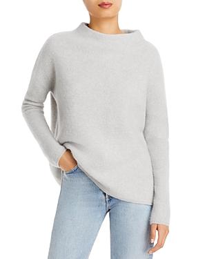 Brushed Cashmere Mock Neck Sweater