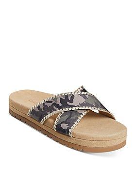 Jack Rogers - Women's Lexi Crossover Leather Platform Sandals