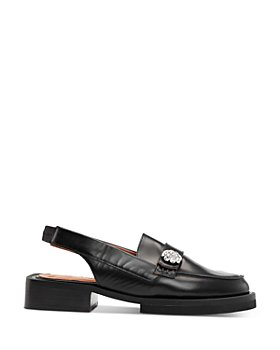 GANNI - Women's Slingback Apron Toe Loafers
