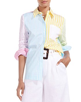 STAUD - Mixed Stripe Button Down Shirt