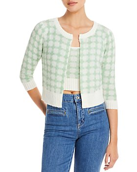 Lucy Paris - Gingham Cropped Cardigan