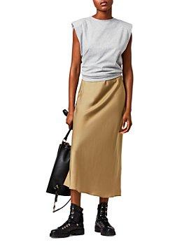 ALLSAINTS - Tierny Coni Layered Look Midi Dress