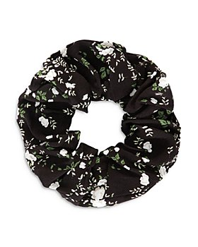 GANNI - Abstract Print Crepe Scrunchie