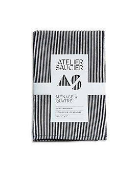 ATELIER SAUCIER - Hickory Stripe Napkins, Set of 4
