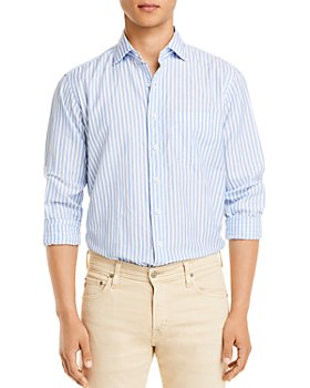 Sid Mashburn - Awning Stripe Cotolino Slim Fit Button Down Shirt