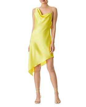 Alice and Olivia - Landon Asymmetric Draped Dress