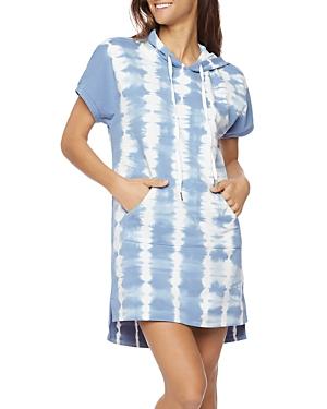 Water Stripe Hoodie Dress