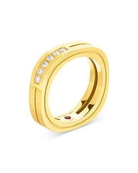 Roberto Coin - 18K Yellow Gold Portofino Ring with Diamonds
