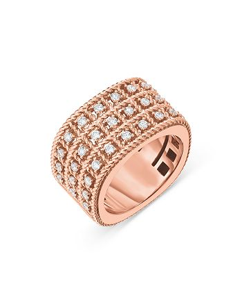 Roberto Coin - 18K Rose Gold Byzantine Barocco Ring with Diamonds